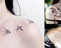 Tatuaże na obojczyk - 20 mega kobiecych wzorów