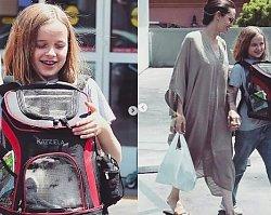 Angelina Jolie z córeczką na zakupach. Mała Vivienne uprosiła mamę o króliczka!
