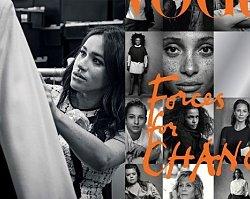 """Meghan Markle zaprojektowała okładkę dla """"Vogue"""". Chciała się popisać, ale wyszło jak zwykle..."""