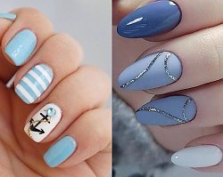 Niebieskie paznokcie w różnych odcieniach - wzory dla krótkich i długich paznokci