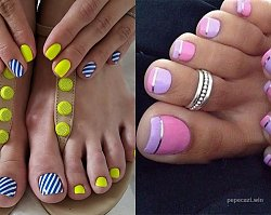 20 niebanalnych pomysłów na pedicure - szałowe wzorki na paznokcie u nóg