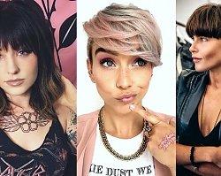 Krótkie i półkrótkie fryzury z grzywką - galeria najnowszych fryzjerskich trendów