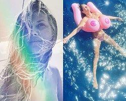 Heidi Klum z nadmuchanymi balonami wyglądała bardzo sexy, ale to na ostatnim zdjęciu pokazała naprawdę dużo!