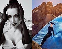 """Kim Kardashian w DZIWNEJ sesji dla """"Vogue Arabia"""". Fani: """"Wyglądasz jak UFO""""!"""