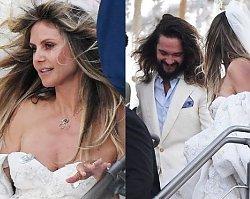 Hedi Klum i Tom Kaulitz wzięli ślub na jachcie! Suknia panny młodej to szczyt ekstrawagancji!