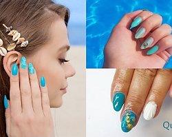 Manicure 2019: Niebieskie hybrydy. Najpiękniejsze propozycje na manicure na wakacyjny wyjazd