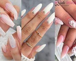 Manicure ślubny - nowoczesne propozycje dla panny młodej 2019/2020! Babyboomer, manicure 3d, moon manicure