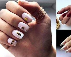 Manicure ze złotymi zdobieniami - galeria stylowych propozycji