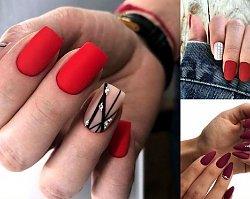 Czerwony manicure - galeria jesiennych stylizacji
