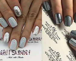 Szare paznokcie - 20 pięknych wzorów paznokci w odcieniach szarości