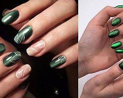Szmaragdowy manicure - najgorętszy trend jesieni. 20 pięknych wzorów paznokci!