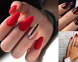 Czerwony manicure - 18 pomysłów, które Cię urzekną
