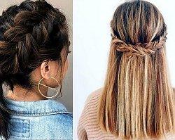 16 modnych fryzur z warkoczem dla włosów krótkich i półkrótkich