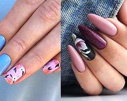 25 inspirujących pomysłów na piękny kwiatowy manicure! [GALERIA]