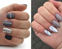 Szary manicure - 21 pomysłów na szare paznokcie [GALERIA 2020]