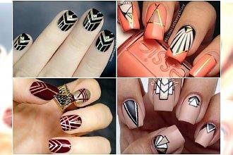 Manicure w stylu art deco - 20 eleganckich wzorków