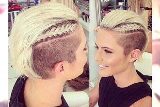 Krótkie fryzury z jeszcze krótszymi bokami - gorący trend 2015 roku!