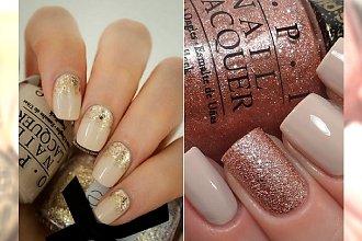 Champagne nails- szampański manicure na Sylwestra