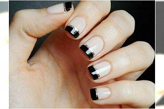 HOT TREND: French manicure z czarnymi końcówkami