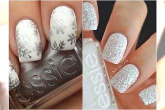 Pomysł na zimowy manicure - biel i srebro na paznokciach