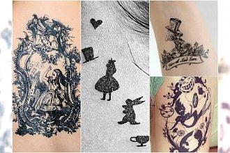 """Oryginalne tatuaże inspirowane """"Alicją w Krainie Czarów"""""""