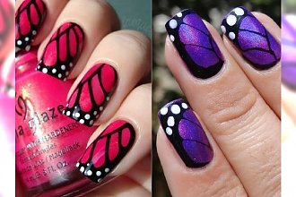 Butterfly nails - trend na motyli manicure