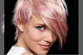 Krótkie fryzury w pastelowych kolorach