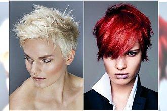 Cieniowane krótkie fryzury - galeria modnego messy hair