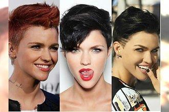 Krótkie fryzury - podpatrujemy styl modelki Ruby Rose
