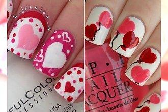 Słodki manicure na walentynki. Zakochacie się w tych wzorkach!