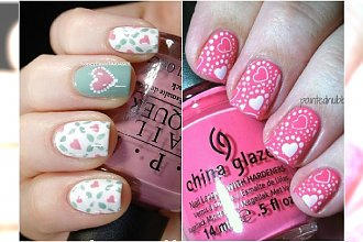 Walentynkowy manicure. Jeszcze więcej pomysłów na romantyczne wzorki!