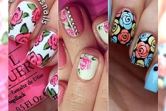 Uroczy manicure w róże - 30 najlepszych wzorków na paznokcie