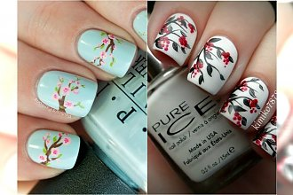 Wiosenny manicure w kwiaty - świeży i dziewczęcy
