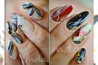 Manicure jak marmur! Super pomysł na akrylowe paznokcie