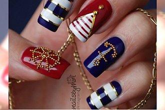 Marynarskie wzroki na paznokcie