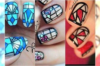 Manicure jak witraż - super wzorki na paznokcie!