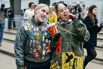 Militarna Oliwka - Trendy Street Style z Fashion Week 2015