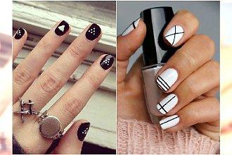 Minimalistyczny manicure. 25 prostych, ultranowoczesnych wzorków na paznokcie