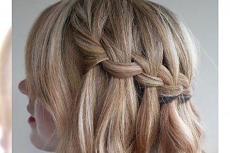 Włosy, jak wodospad! - Romantyczne fryzury z Waterfall Braid