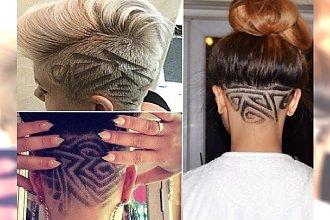 Krótkie fryzury undercut z fantazyjnymi wzorkami z tyłu głowy