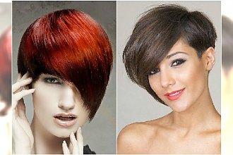 Krótkie fryzury asymetryczne w nowoczesnym wydaniu - galeria modnych cięć 2015