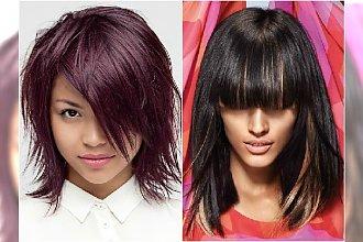Kobiece fryzury z grzywką - galeria propozycji dla średnich włosów