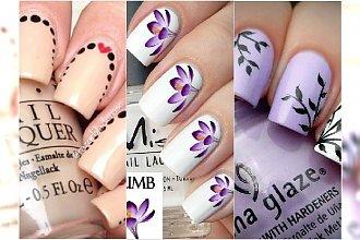 Lekki i dziewczęcy manicure na wiosnę - 20 pomysłów na niebanalne wzorki