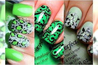 Świeży, wiosenny manicure w odcieniach zieleni  - 20 ślicznych wzorków
