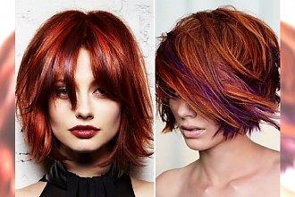 TREND: Red hair bob - klasyczną, półdługą fryzurę ożywiamy kolorem czerwonego wina!