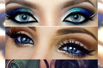 Cudowny makijaż wieczorowy dla niebieskookich kobiet - podkreśl błękitne tęczówki!