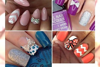 Bow nails - 80 hot propozycji na uroczy manicure z kokardką