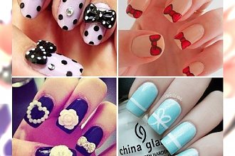 80 pomysłów na super dziewczęcy manicure z kokardką. Te propozycje Was zauroczą!