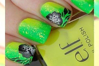 Neonowy mani w kolorze soczystej limonki - orzeźwienie dla Twojego outfitu!