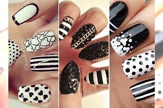 Stylowy manicure: wielka galeria czarno- białych wzorków